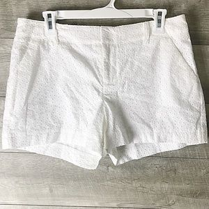 White textured Maurices shorts